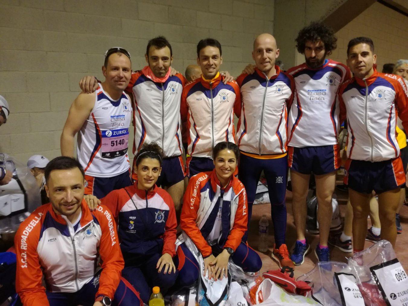 Nueve atletas de La Cultural de Ribadesella en la Maratón de Sevilla