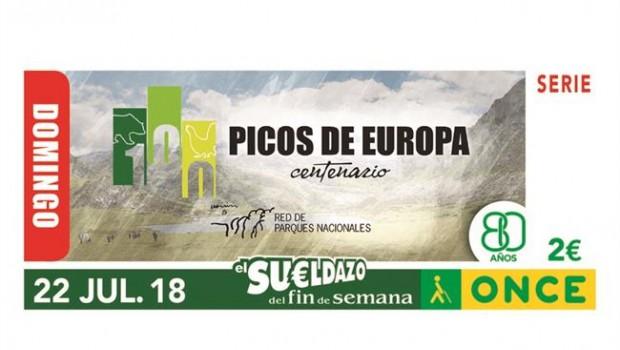 El Cupón de la ONCE del domingo estará dedicado al Parque Nacional de los Picos de Europa