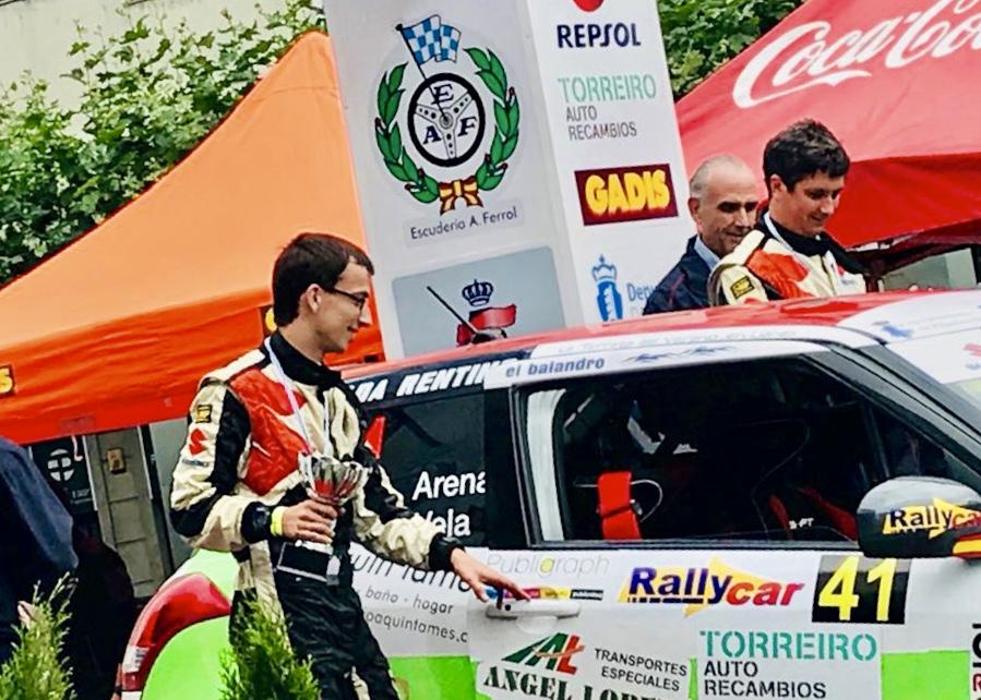 El riosellano Angel Vela camino de convertirse en el mejor copiloto junior de España