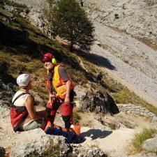 Evacuada al Hospital de Arriondas una excursionista que se fracturó un tobillo en la Ruta del Cares