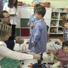El Consejero de educación inaugura el curso escolar en Ponga. El Colegio Público de Ribadesella aumenta su matrícula