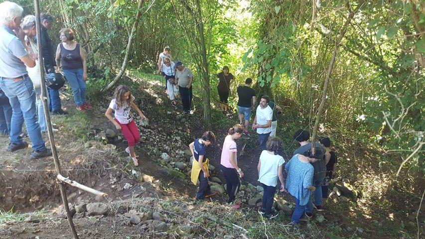 El castro de Antrialgo (Piloña) deja al descubierto una vía romana y otros vestigios del pasado