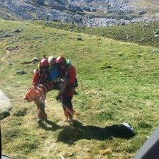 Rescatado otro montañero en Cabrales, en la majada de Amuesa