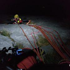 Rescatados dos escaladores vascos atrapados en la pared del Fresnidiello en Cabrales