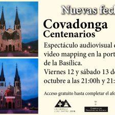 El videomapping de Covadonga se vuelve a proyectar en el puente festivo del Pilar