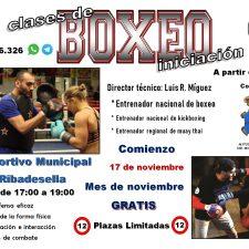 El boxeo regresa a Ribadesella con clases de iniciación todos los sábados por la tarde
