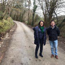 Comienza la ampliación de la carretera que une L'Alisal con Cueves, en el concejo de Ribadesella