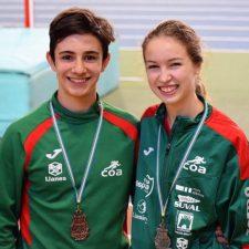 Dos medallas para el Club Oriente Atletismo en el Regional de Pista Cubierta