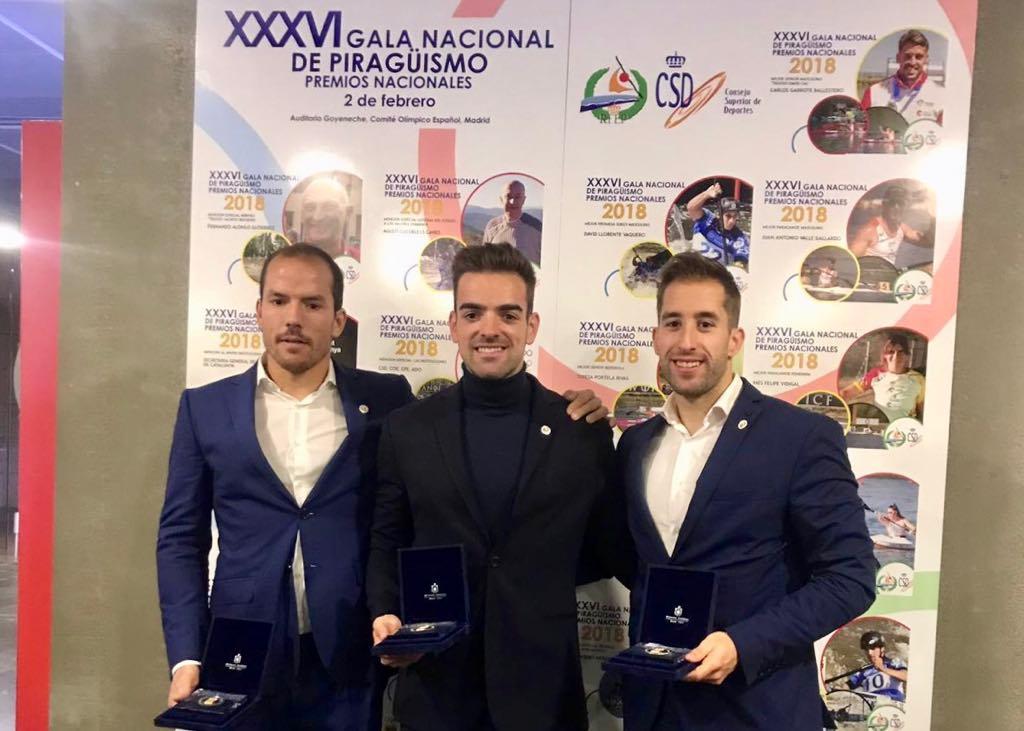 El Comité Olímpico Español reconoce el éxito de tres palistas de La Cultural durante 2018