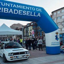 Arranca el 1º Rallye Clásico del Sella con 110 coches en la salida de Ribadesella