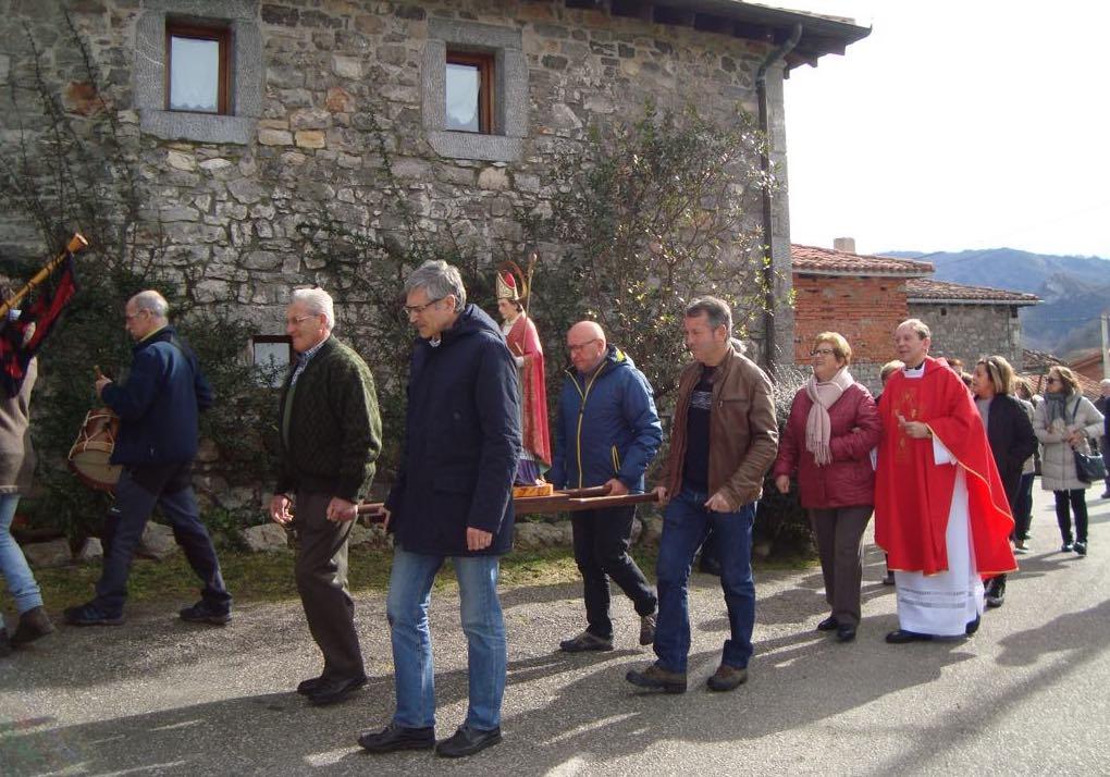 La localidad canguesa de Torio celebra la Fiesta de San Blas
