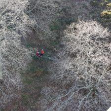 Evacuado en helicóptero un hombre accidentado en el Chorrón de Villamayor (Piloña)