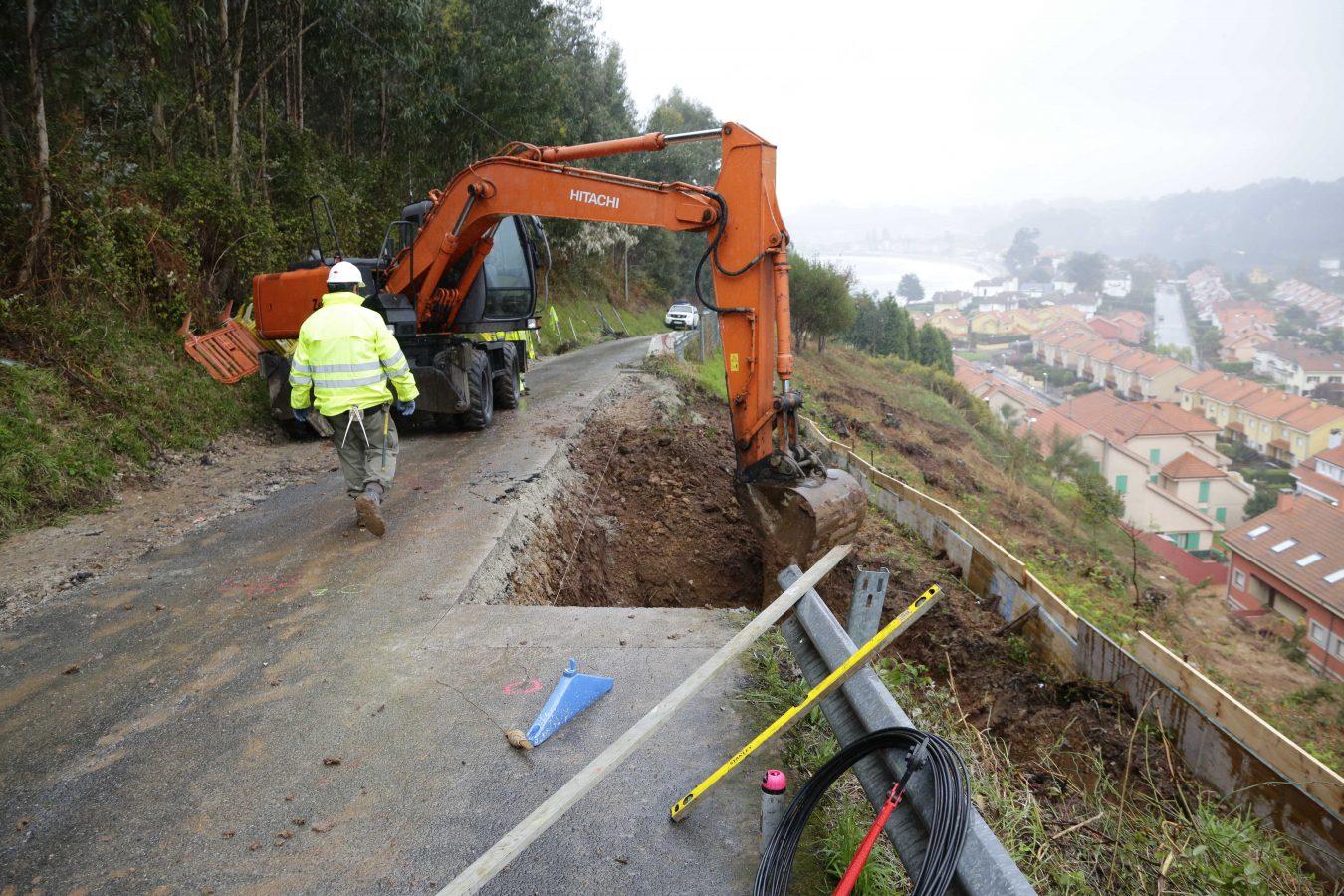 Comienzan las obras de reparación de la carretera del Faro de Ribadesella