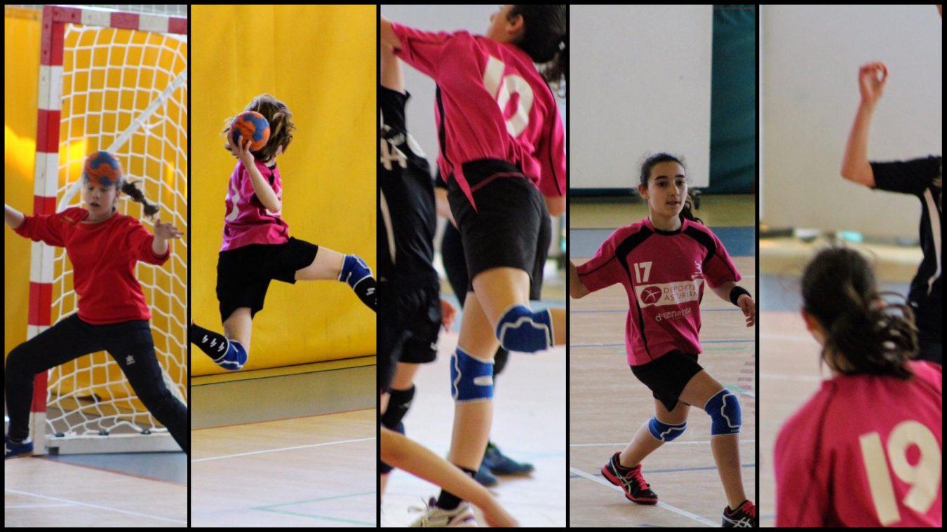 Cuatro jugadoras infantiles del CB Ribadesella convocadas por la Federación de Balonmano del Principado