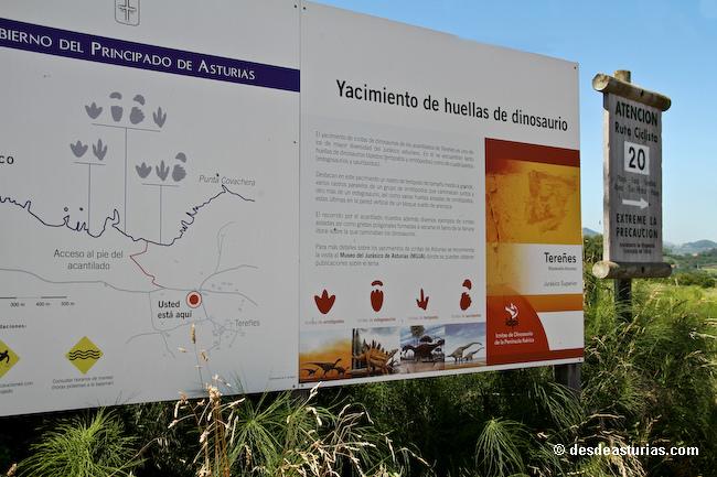 El folleto turístico del Principado excluye a Ribadesella de la Costa de los Dinosaurios