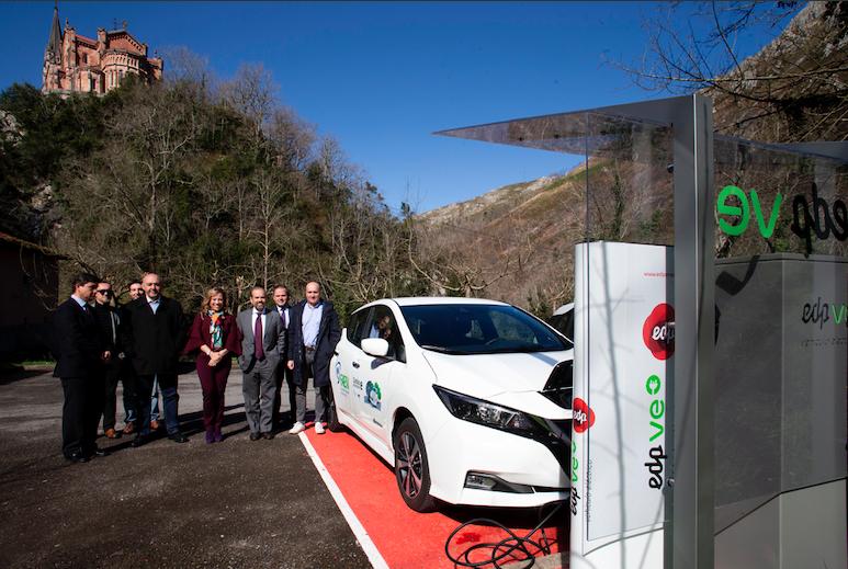Covadonga y Posada estrenan nuevos puntos de recarga para vehículos eléctricos
