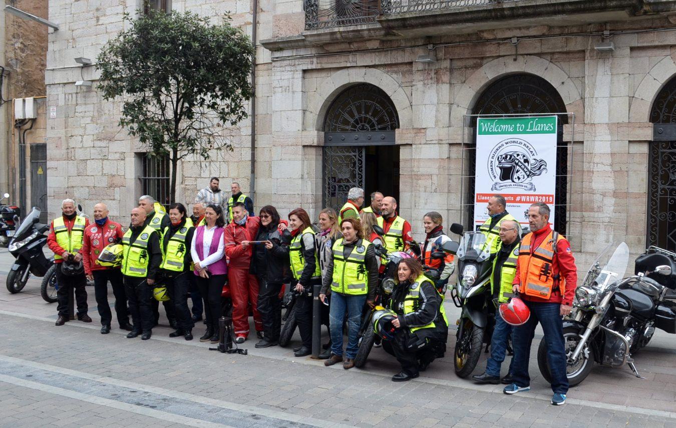 14 mujeres moteras llegan a Llanes en la Women Riders World Relay (WRWR)