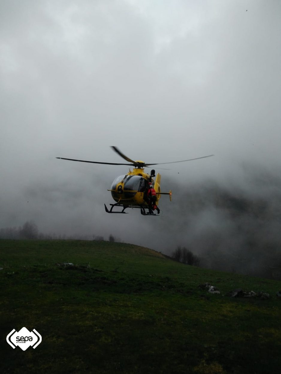 Segundo rescate de montaña, esta vez en la Tenerosa de Cabrales