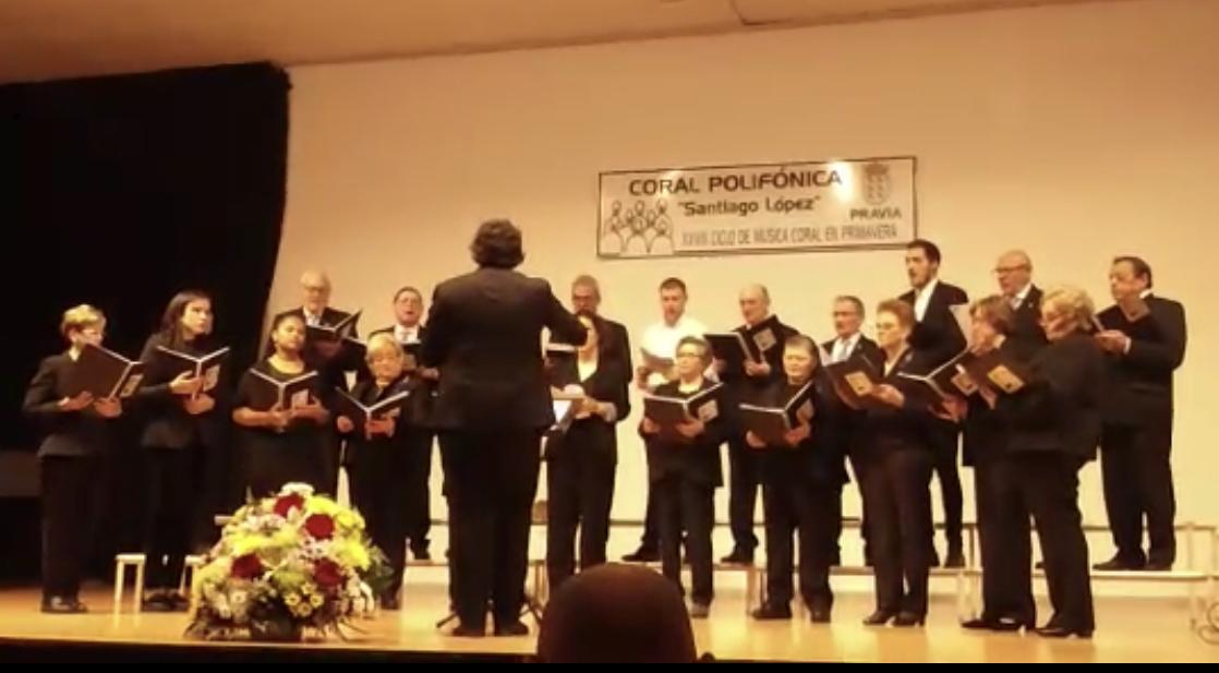 Exito de la Coral Polifónica de Arriondas en el Ciclo de Música Coral en Primavera de Pravia