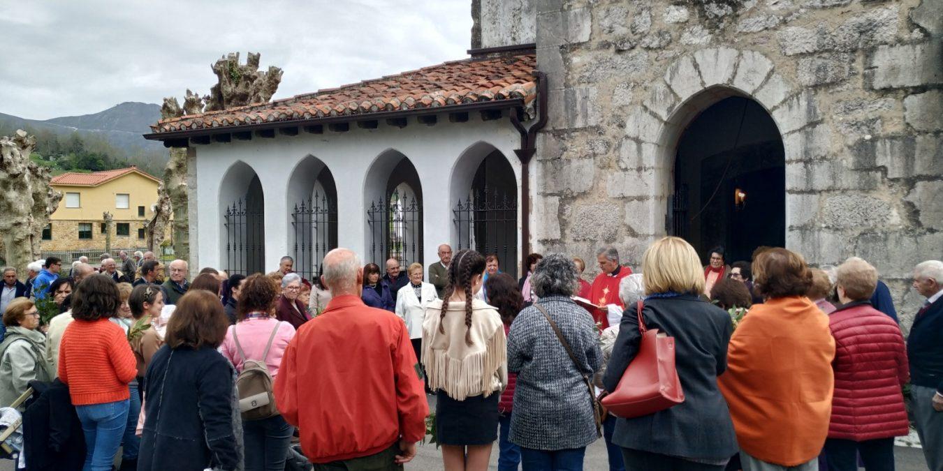 Domingo de Ramos en la parroquia Santa Eulalia de Onís