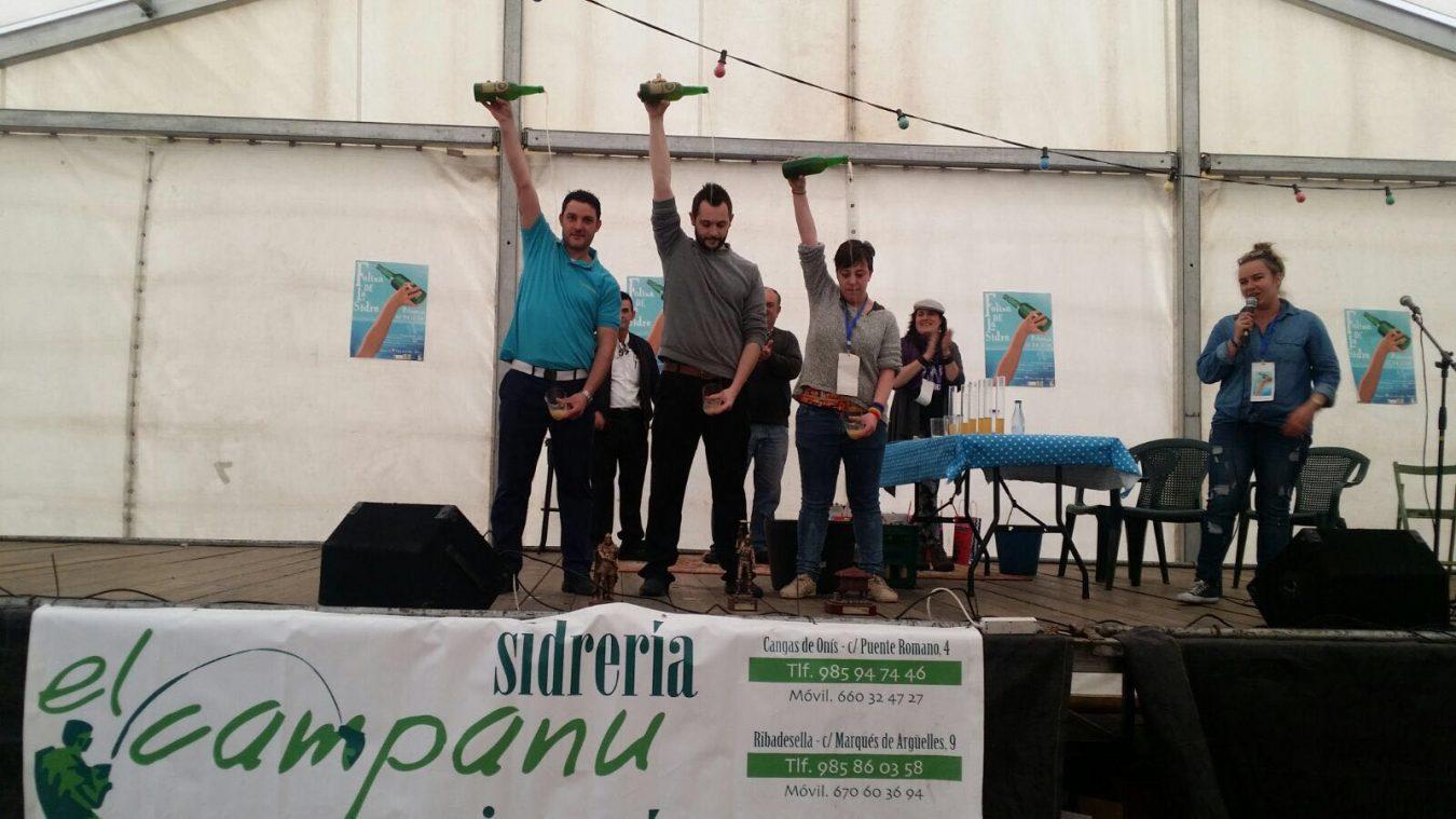 Ribadesella vuelve al Campeonato de Asturias de Escanciadores veinte años después