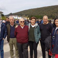 El puente y la Autovía del Sella en la agenda de la visita de Carmen Moriyón a las Carreras de Caballos Playa de Ribadesella