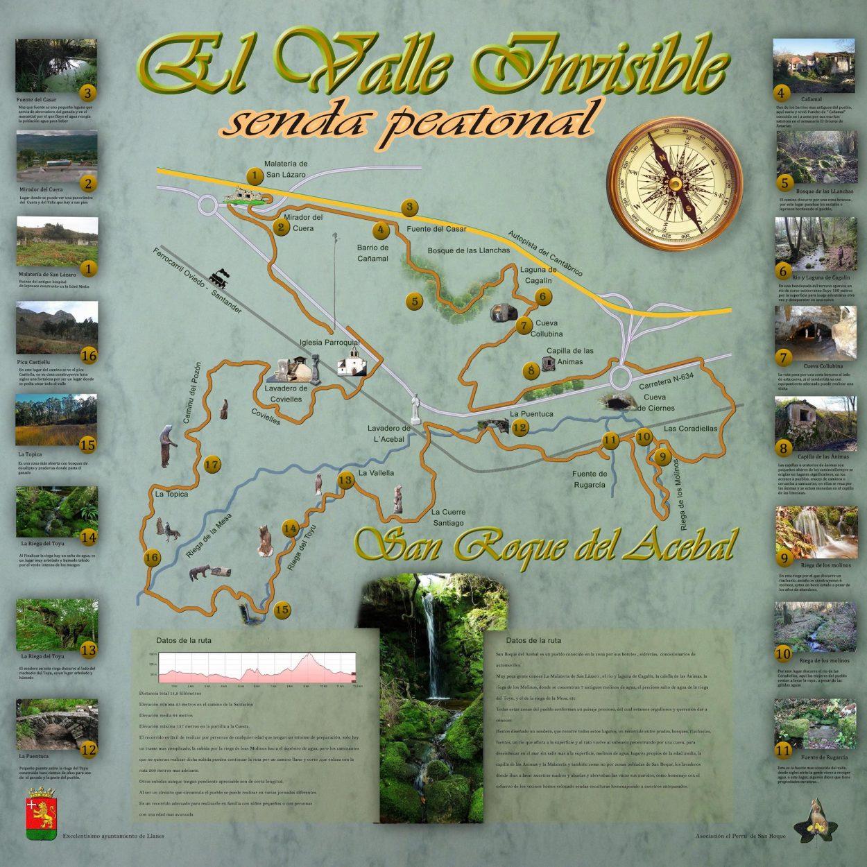 San Roque del Acebal inaugura el sábado su Senda del Valle Invisible