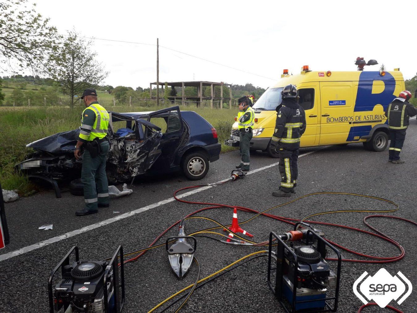Un hombre pierde la vida en un accidente de tráfico en la N-634