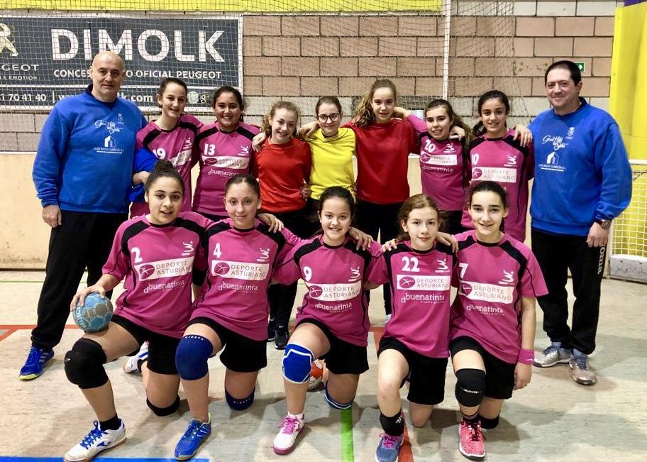 El equipo infantil del Balonmano Ribadesella seguirá una temporada más en la máxima categoría