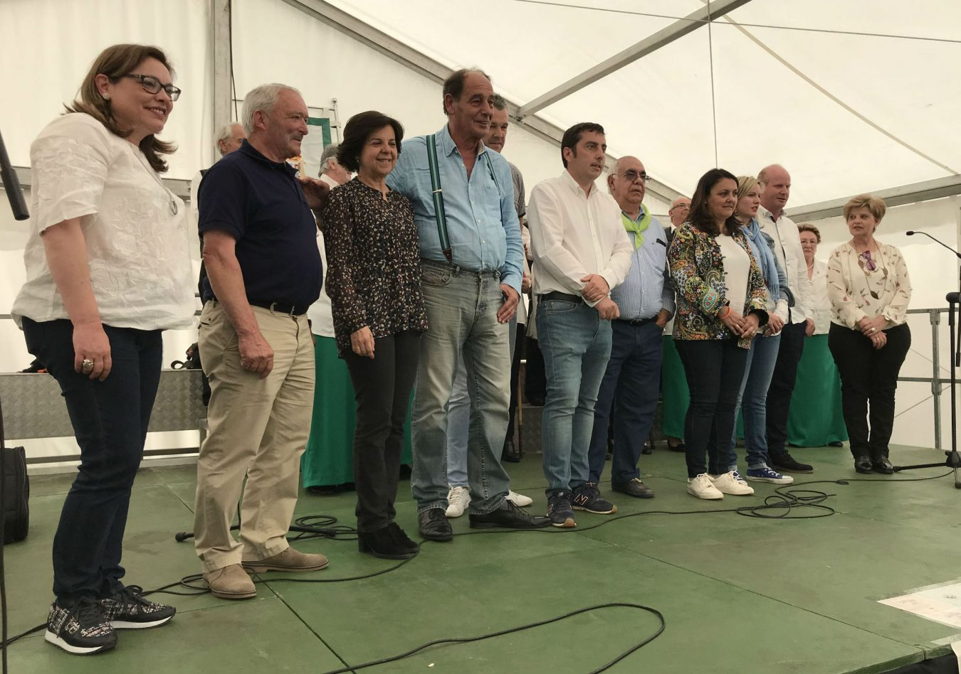Los alcaldes de Ribadesella, Ponga y Peñamellera Alta en los XI Encuentros Astur-Cántabros de Llanera
