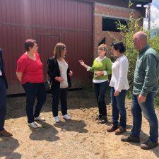 Gimena Llamedo visita el concejo de Amieva junto a la Consejera de Desarrollo Rural