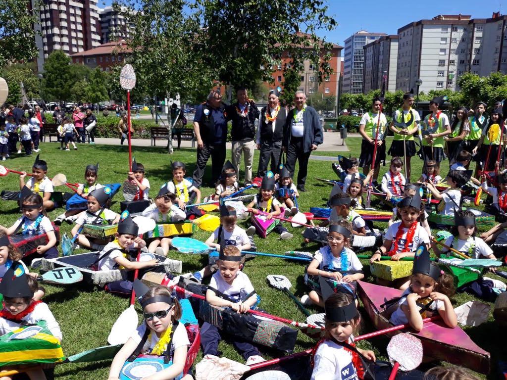 La recreación del Descenso Internacional del Sella cumple su tercer año en Gijón