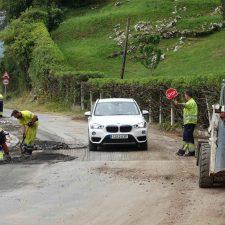 Renovación de pavimentos en la avenida de Tito Bustillo de Ribadesella y en Collera