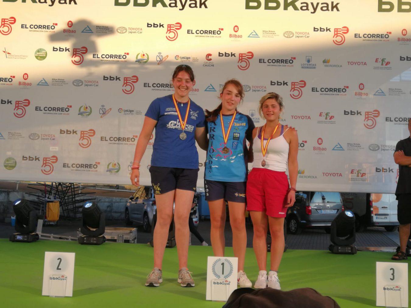 Andrea Rodríguez (Los Rápidos), Campeona de España de Ríos y Travesías por delante de Carla Corral