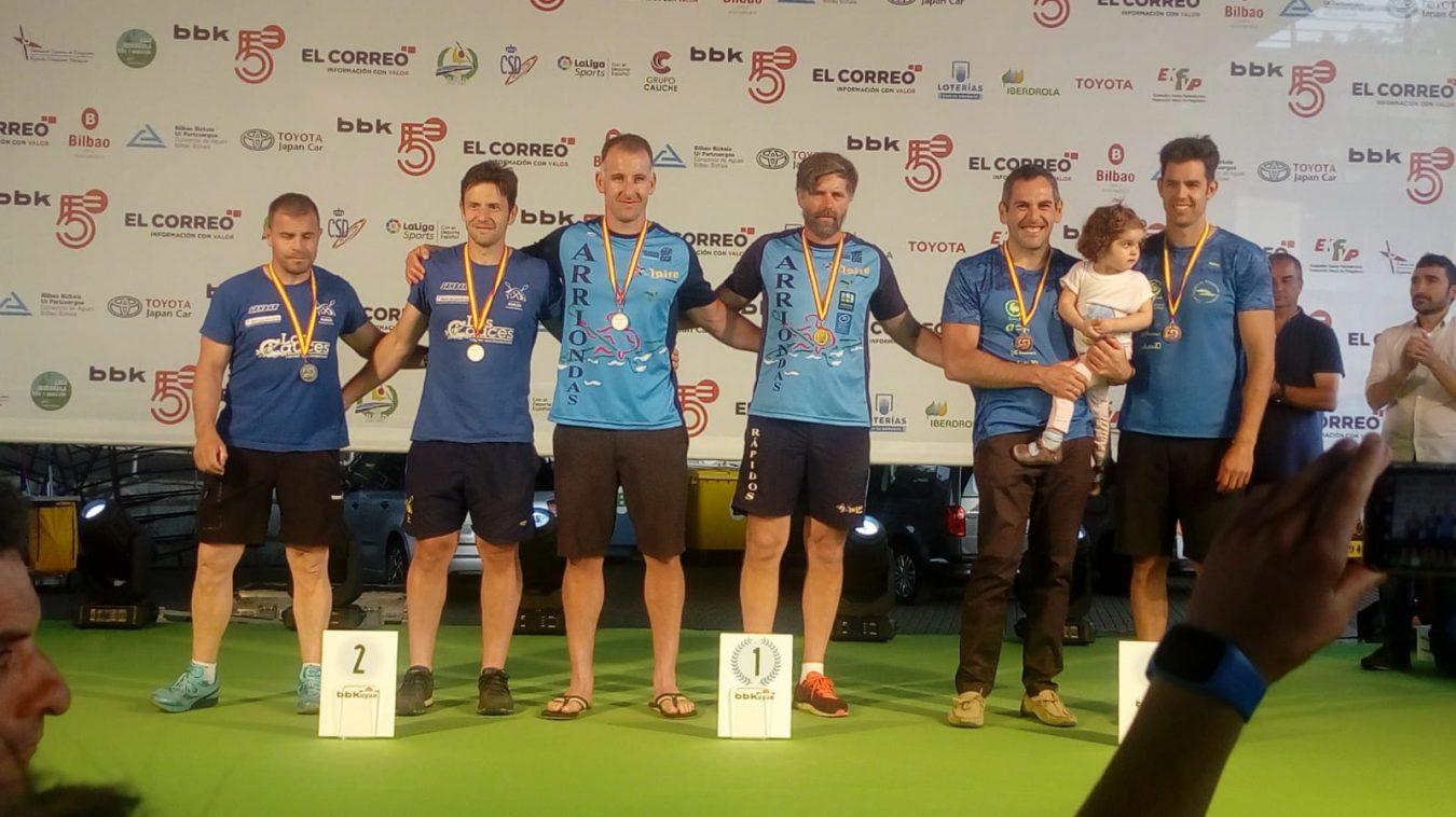 Cinco títulos nacionales para los veteranos de Asturias en la BBKayak 2019