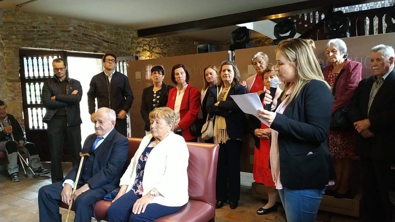 Homenaje póstumo de los Mayores de Amieva a César Castrillo de la Gala