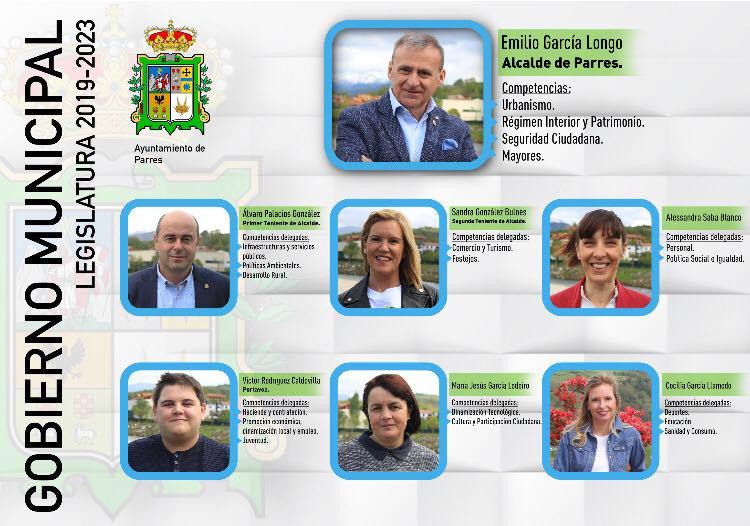 El Ayuntamiento de Parres da a conocer el nuevo organigrama municipal que presidirá Emilio García Longo