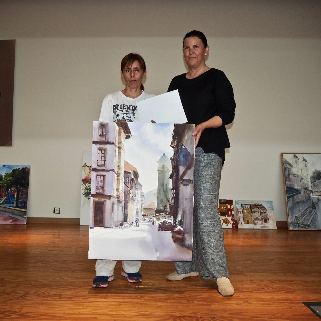 El gijonés Diego Fernández Columé gana el Certamen de Pintura en la Calle de Ribadesella