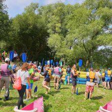 Ayer se celebró el XVIII Descenso del río Deva para personas discapacitadas entre Panes y Unquera
