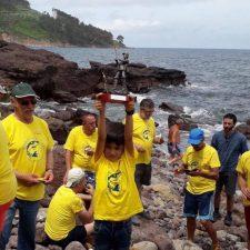 Marcos, el mejor pescador en la Fiesta del Pez de Abéu (Ribadesella)