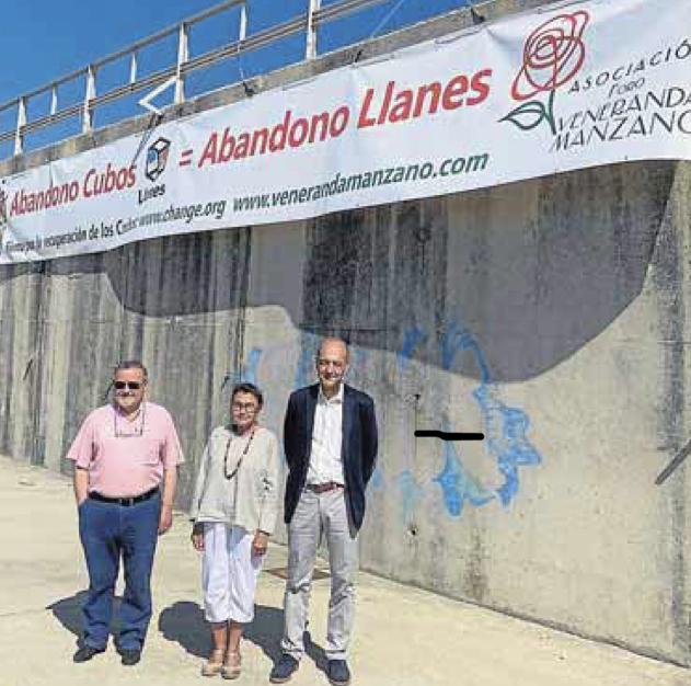 El Ayuntamiento de Llanes retira la pancarta que reclamaba la restauración de los Cubos de la Memoria