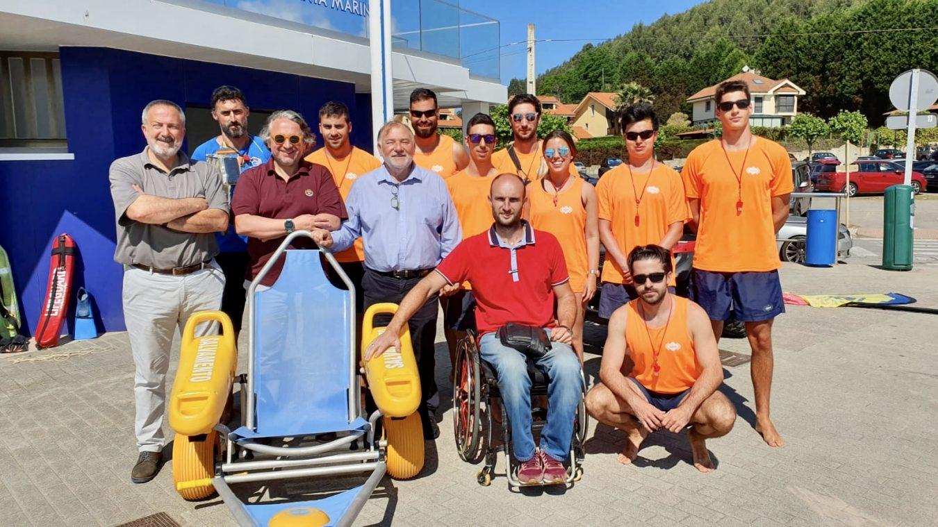 Taller de Accesibilidad para los socorristas de Ribadesella y Curso de Primeros Auxilios de Cruz Roja