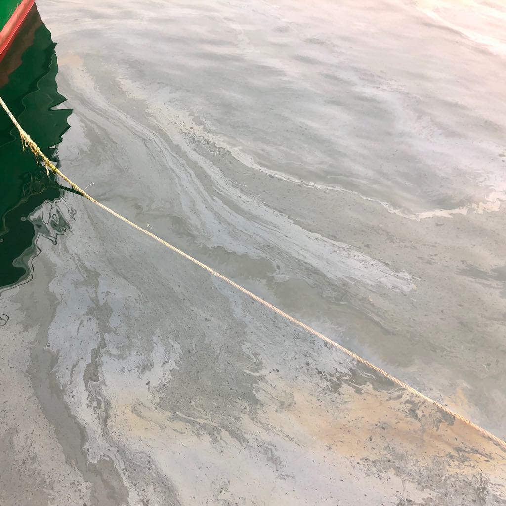 El SEPRONA está investigando los vertidos de gasóleo en la ría de Ribadesella