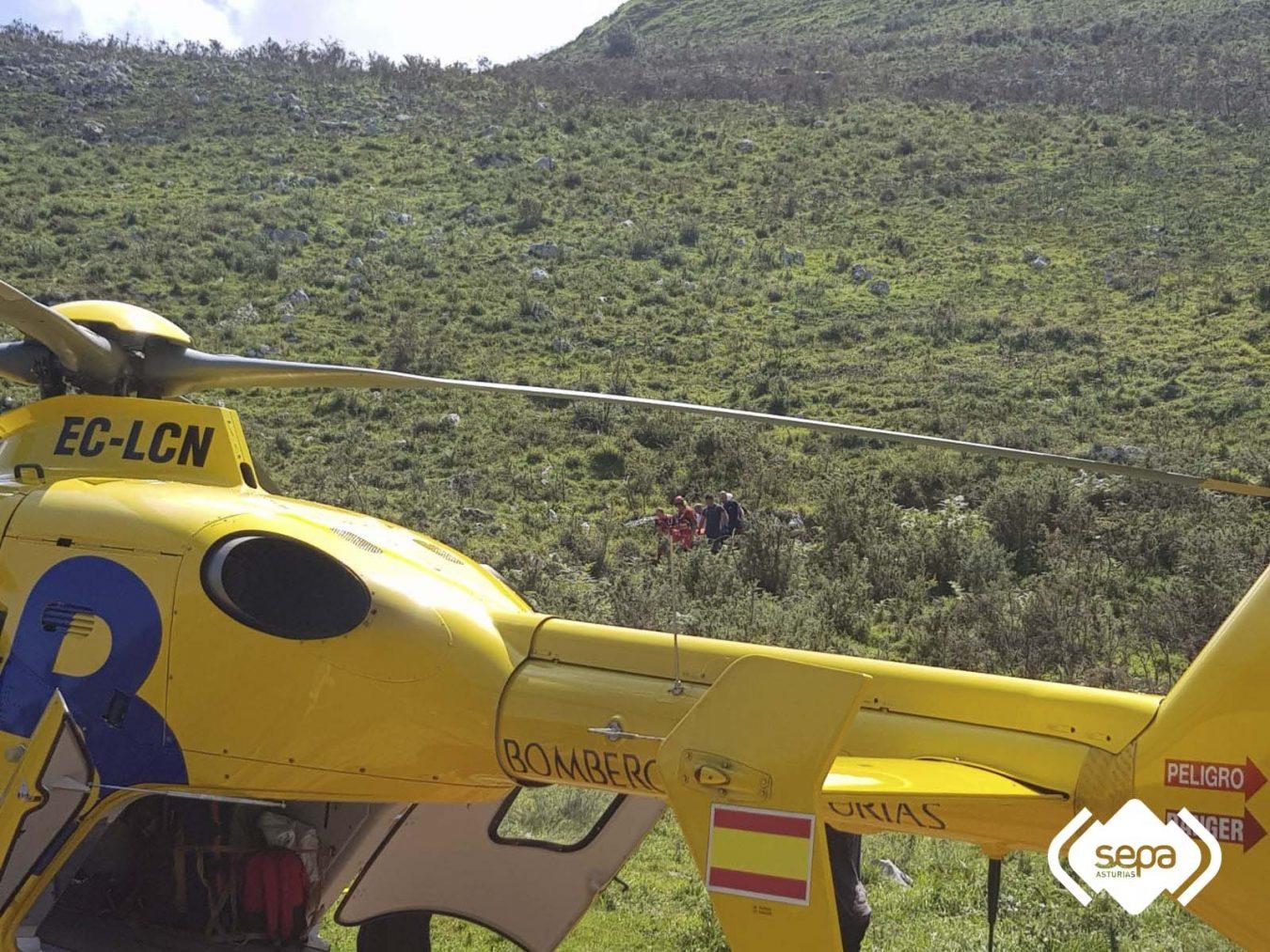 Un hombre resulta herido de consideración al volcar con un quad en la subida al picu El Paisanu (Ribadedeva)