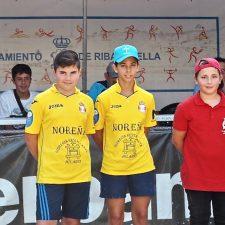 Adrián gana el Torneo Infantil de Bolos en la Calle de Ribadesella-Memorial El Xatu