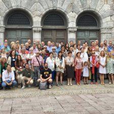 Multitudinaria reunión de la familia Bravo-Alabau en la villa de Ribadesella