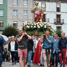 La procesión pone punto final a las celebraciones en honor a Santa Marina en Ribadesella