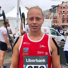 Ser asturiana y ganar aquí es muy emocionante dice Mirian Vega, la Campeona K1 del Sella