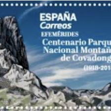Un nuevo sello de Correos conmemora el centenario del Parque Nacional de la Montaña de Covadonga