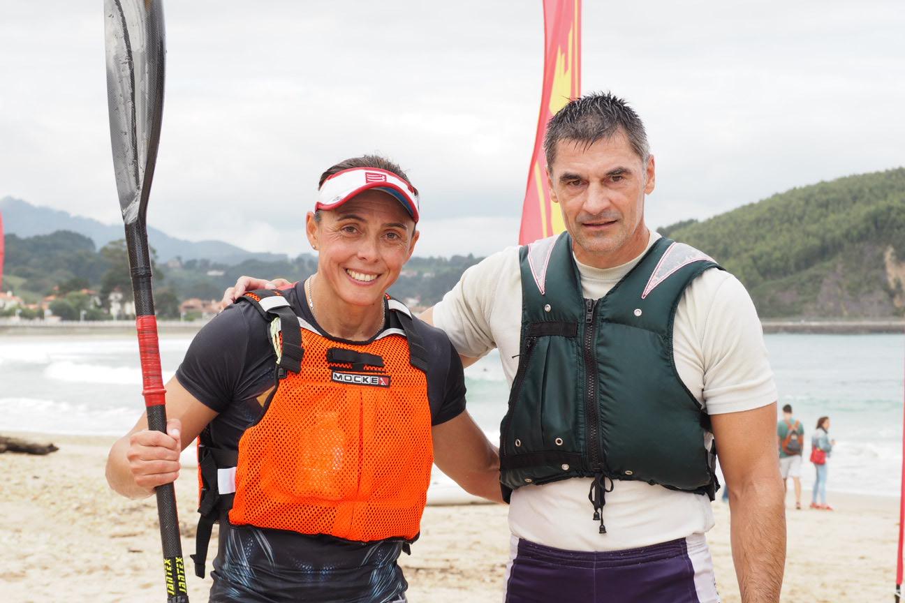 Ordóñez/García en SS2 y Bouzán en SS1, Campeones de Asturias de Surfski